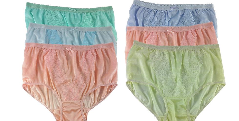 NLSG140 Lots 6 pcs Wholesale New Panties Granny Briefs Nylon Men Women