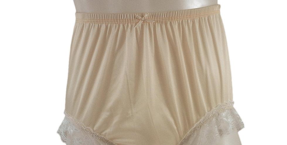 NQH01D18 Orange Panties Granny Briefs Nylon Handmade Lace Men Woman