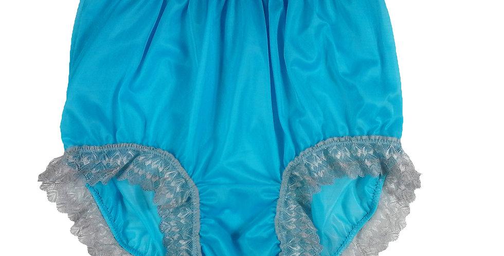 NNH04D25 light blue Handmade Panties Lace Women Men Briefs Nylon Knickers