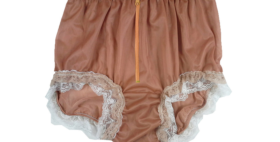 NNH23DP06Fair Brown Zipper Handmade Panties Lace Women Men Briefs Nylon Knickers