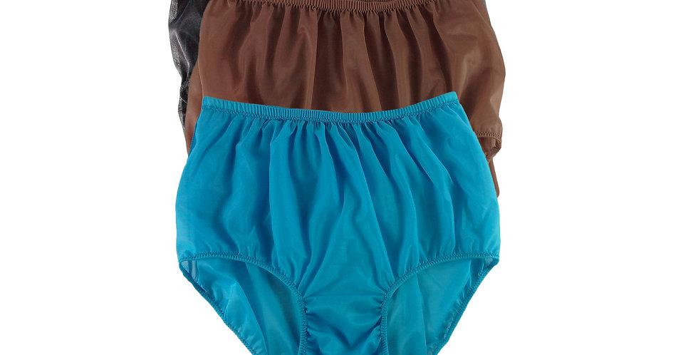 A73 Lots 3 pcs Wholesale Women New Panties Granny Briefs Nylon Knickers