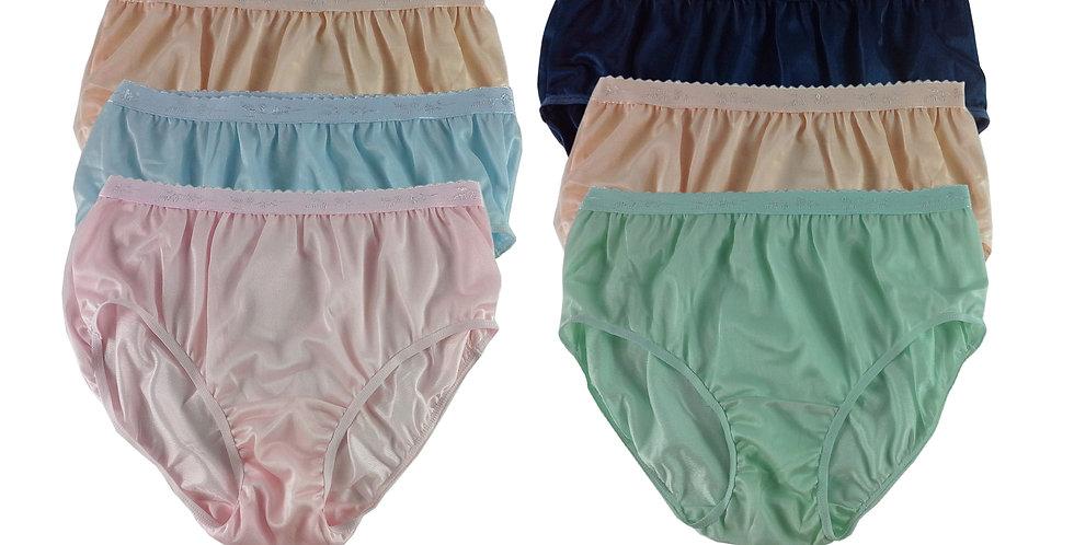 CKSL54 Lots 6 pcs Wholesale New Nylon Panties Women Undies Briefs