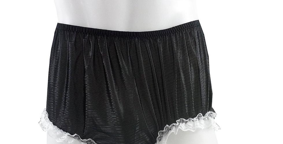 SFH02D01 Black Shiny Nylon New Panties Women Men Handade Briefs