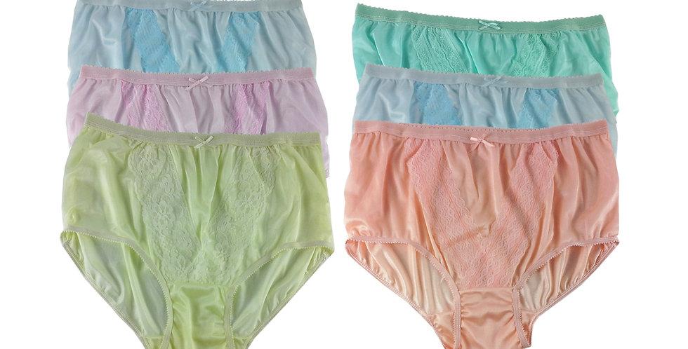 NLSG102 Lots 6 pcs Wholesale New Panties Granny Briefs Nylon Men Women