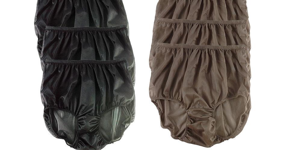 NSD07Lots 6 pcs Wholesale Women New Panties Granny Briefs Nylon Lingerie
