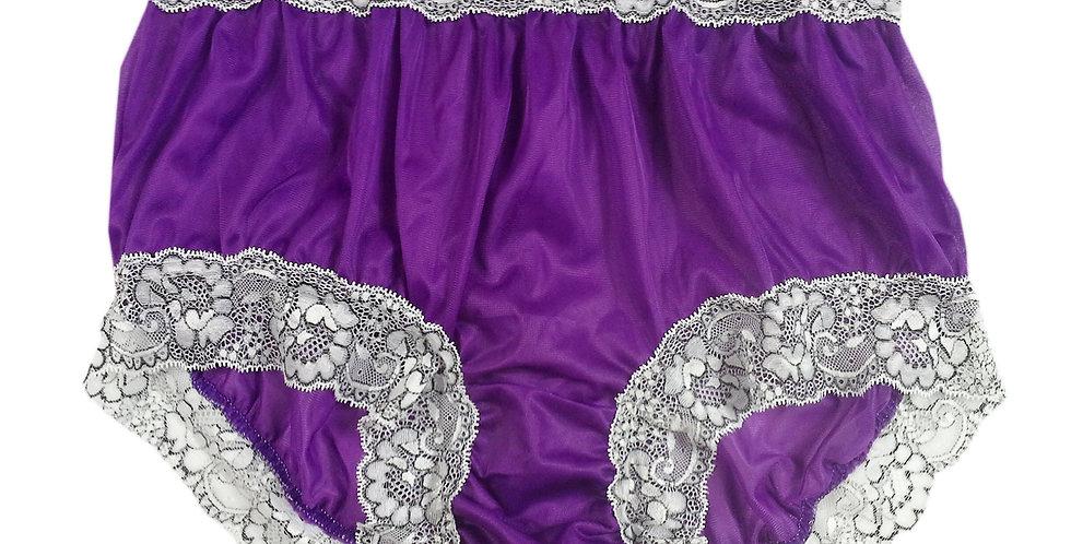 light purple Vintage Nylon Brief Panty Knickers Men Handmade Waist Lacy NH26D