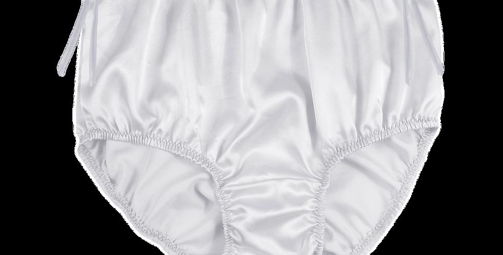Personalised White Silky Satin Men Knickers Briefs Custom Panties Text