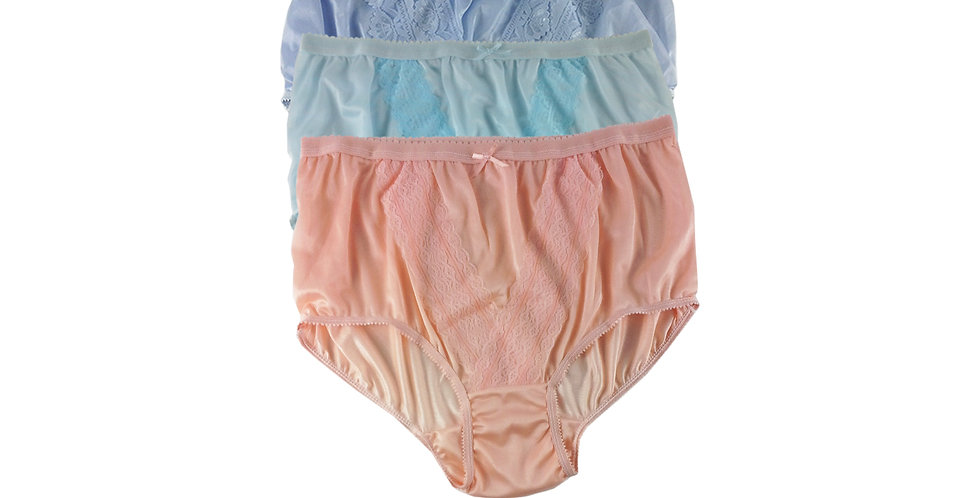 NLTH06 Lots 3 pcs Wholesale Panties Granny Lace Briefs Nylon Men Woman