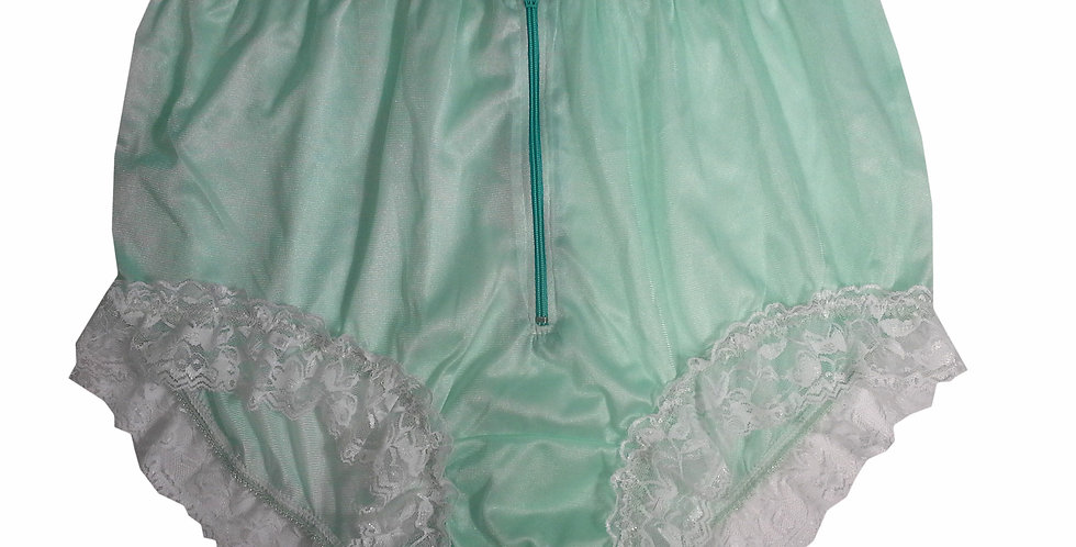 NYH09D01 Green Handmade New Panties Briefs Lace Sheer Nylon Men Women