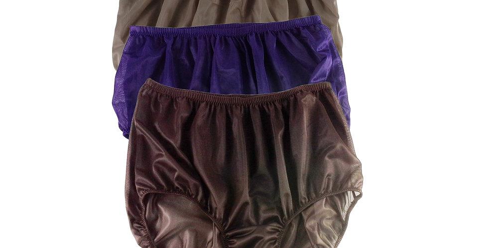 A36 Lots 3 pcs Wholesale Women New Panties Granny Briefs Nylon Knickers