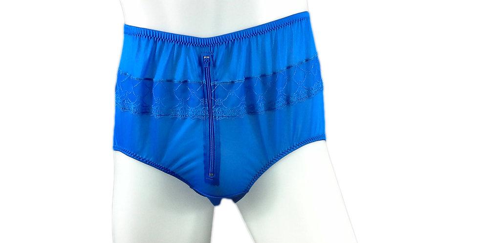 JYH03B06 blue Handmade Nylon Panties Women Men Lace Knickers Briefs
