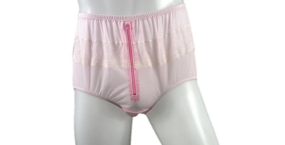 JYH03B05 fair pink Handmade Nylon Panties Women Men Lace Knickers Briefs