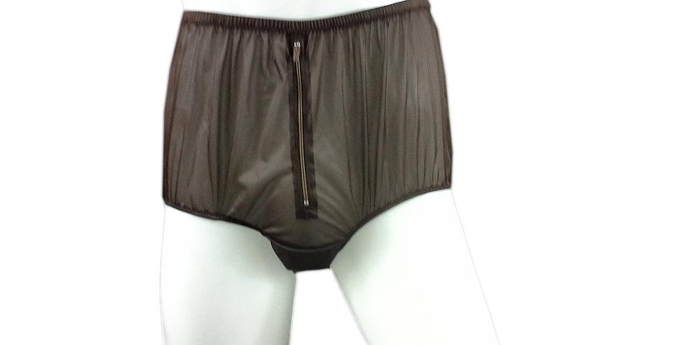 NH03D02 Black Handmade Panties Lace Women Men Briefs Nylon Knickers