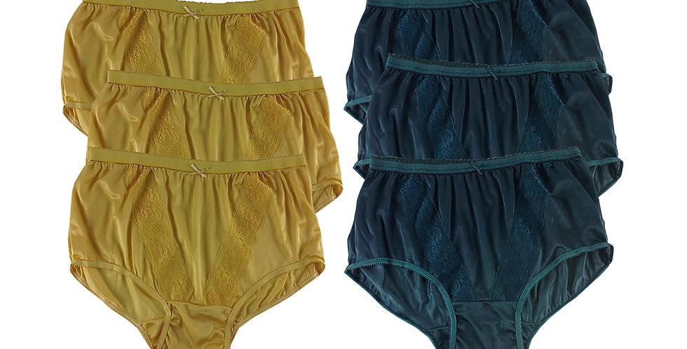KJSJ04 Lots 6 pcs Wholesale New Panties Granny Briefs Nylon Men Women