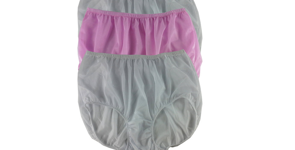 A145 Lots 3 pcs Wholesale Women New Panties Granny Briefs Nylon Knickers