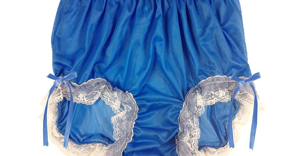 NNH21D02 Royal Blue Handmade Panties Lace Women Men Briefs Nylon Knickers