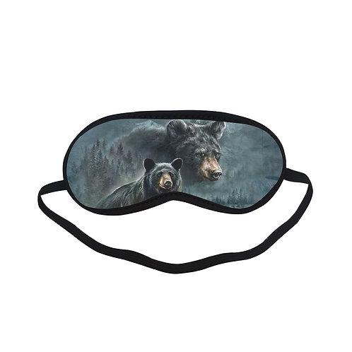 ATEM411 three black bears Eye Printed Sleeping Mask