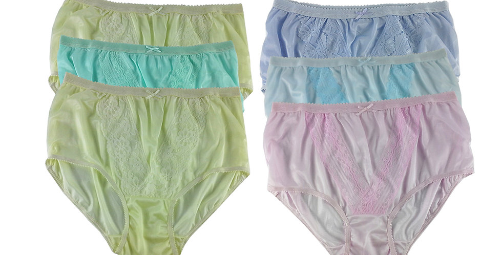 NLSG47 Lots 6 pcs Wholesale New Panties Granny Briefs Nylon Men Women