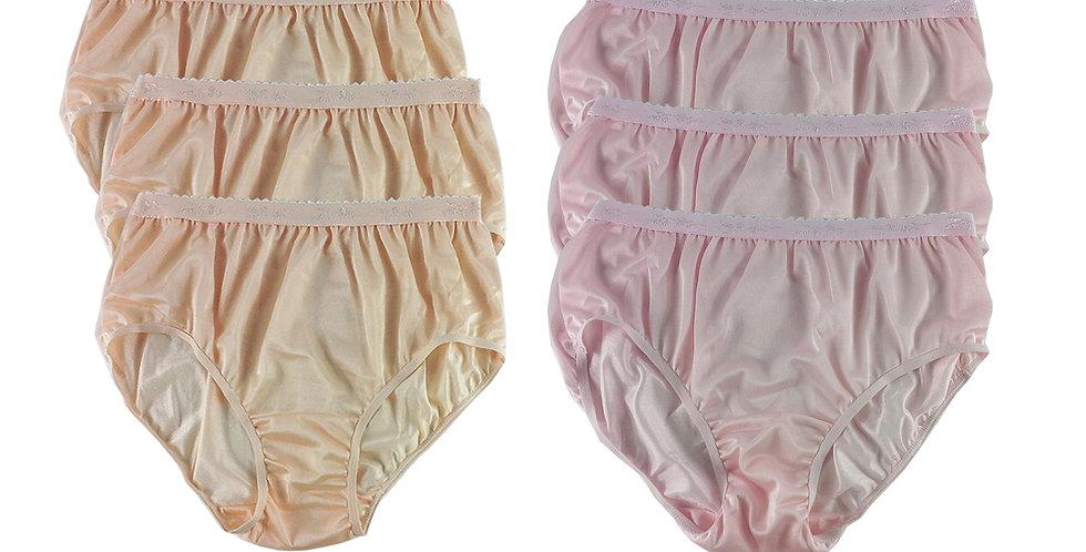 CKSL12 Lots 6 pcs Wholesale New Nylon Panties Women Undies Briefs