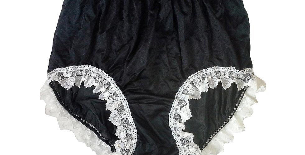 NQH24D07 Black New Panties Granny Briefs Nylon Handmade Lace Men