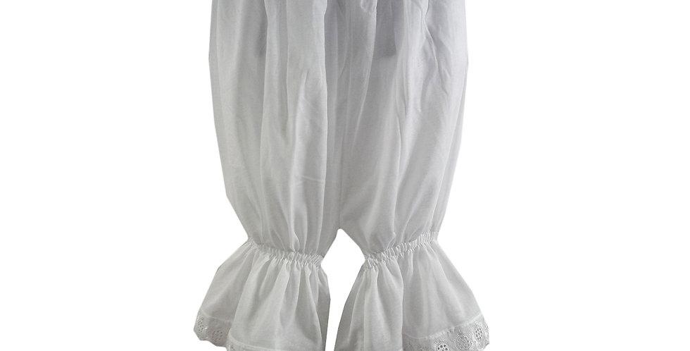 PCPH02 white Cotton Pettipants Women Slips Lace Lingerie Underwear