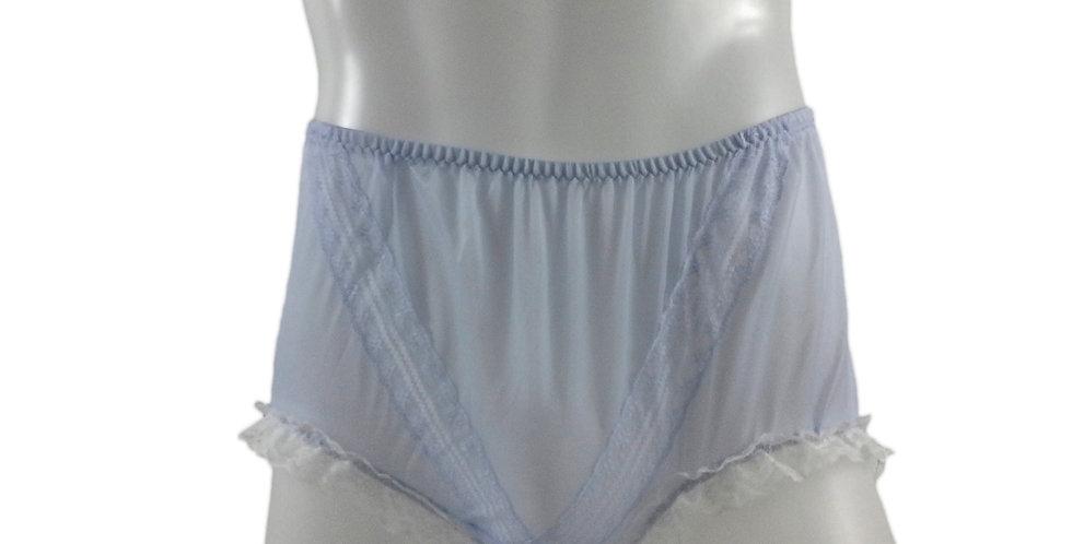 SSH02D03 Purple Handmade Nylon Panties Lace Women Granny Men Briefs