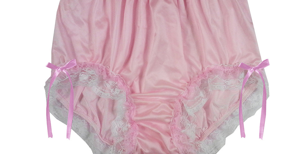 NQH21D02 Pink New Panties Granny Briefs Nylon Handmade Lace Men