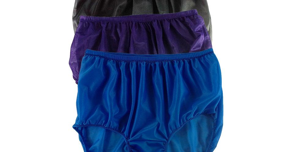 A9 Lots 3 pcs Wholesale Women New Panties Granny Briefs Nylon Knickers