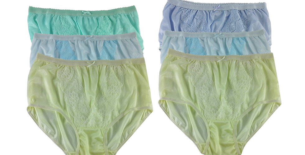 NLSG120 Lots 6 pcs Wholesale New Panties Granny Briefs Nylon Men Women