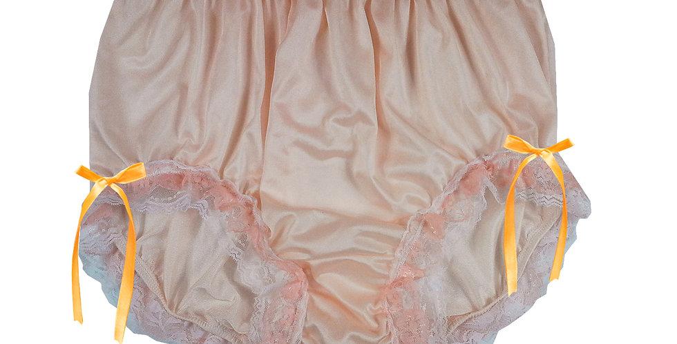 NQH21D08 Orange New Panties Granny Briefs Nylon Handmade Lace Men