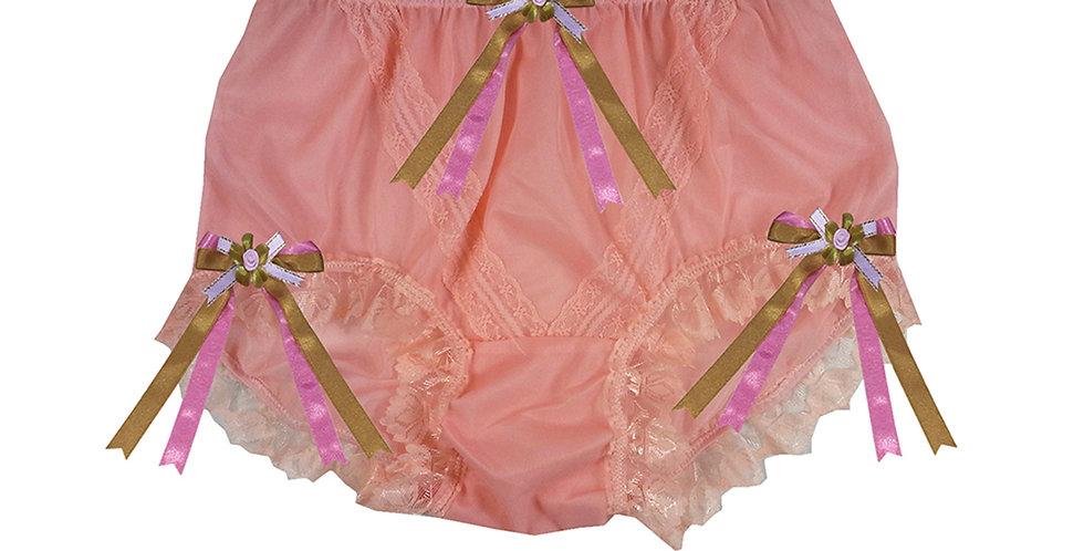 SSH18D04 Orange Handmade Nylon Panties Lace Women Granny Men Briefs