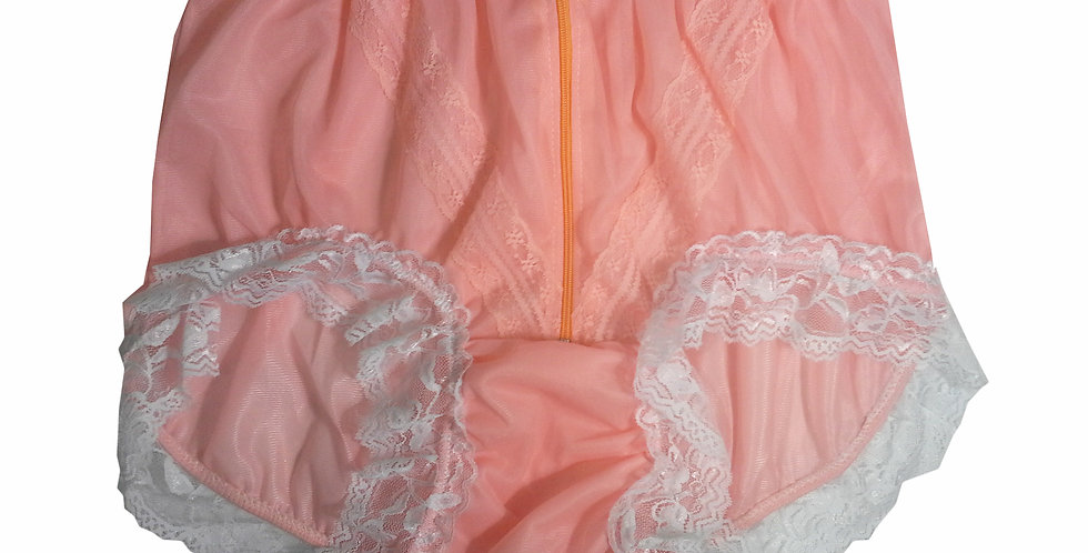 SSH09D05 Orange Handmade Nylon Panties Lace Women Granny Men Briefs