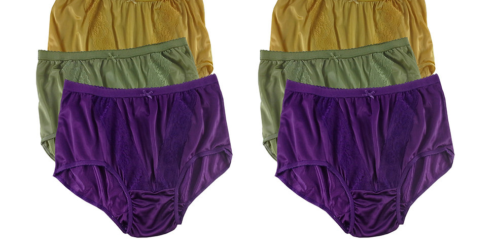 KJSJ66 Lots 6 pcs Wholesale New Panties Granny Briefs Nylon Men Women