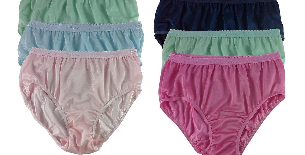 CKSL31 Lots 6 pcs Wholesale New Nylon Panties Women Undies Briefs