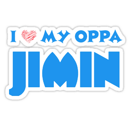 I HEART MY OPPA JIMIN - BLACK SSTK047 K-Pop Music Brand Car Window Decal Sticker
