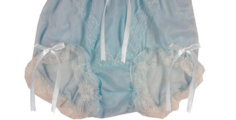 SSH22D02 Blue Handmade Nylon Panties Lace Women Granny Men Briefs