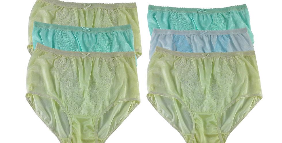 NLSG39 Lots 6 pcs Wholesale New Panties Granny Briefs Nylon Men Women