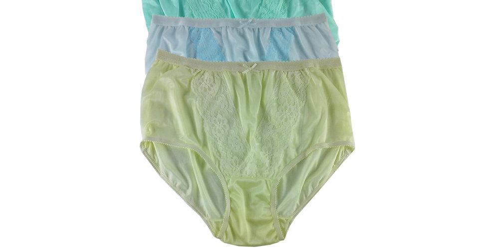NLTH13 Lots 3 pcs Wholesale Panties Granny Lace Briefs Nylon Men Woman