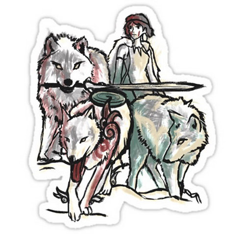 SRBB0569 Hunting With The Pack anime sticker