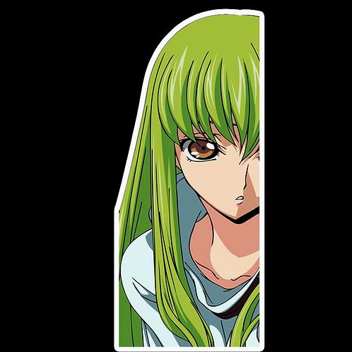 Peeker Anime Peeking Sticker Car Window Decal PK202 Code Geass
