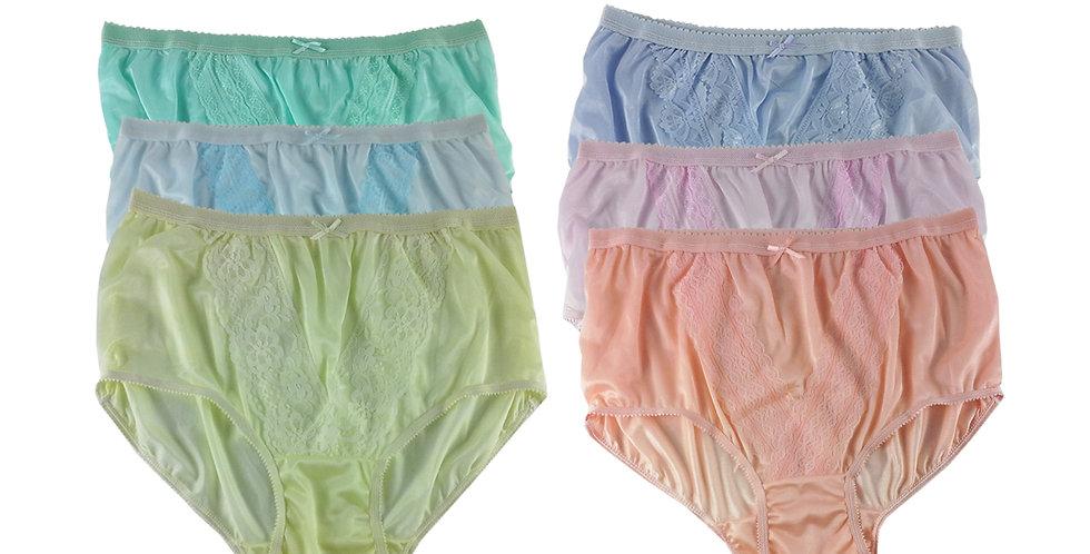 NLSG119 Lots 6 pcs Wholesale New Panties Granny Briefs Nylon Men Women