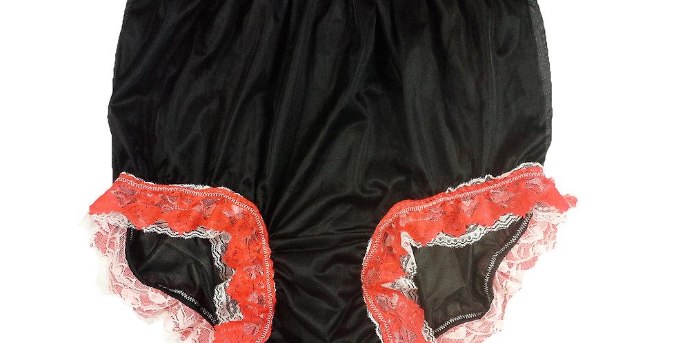 NNH05D12 Black Handmade Panties Lace Women Men Briefs Nylon Knickers