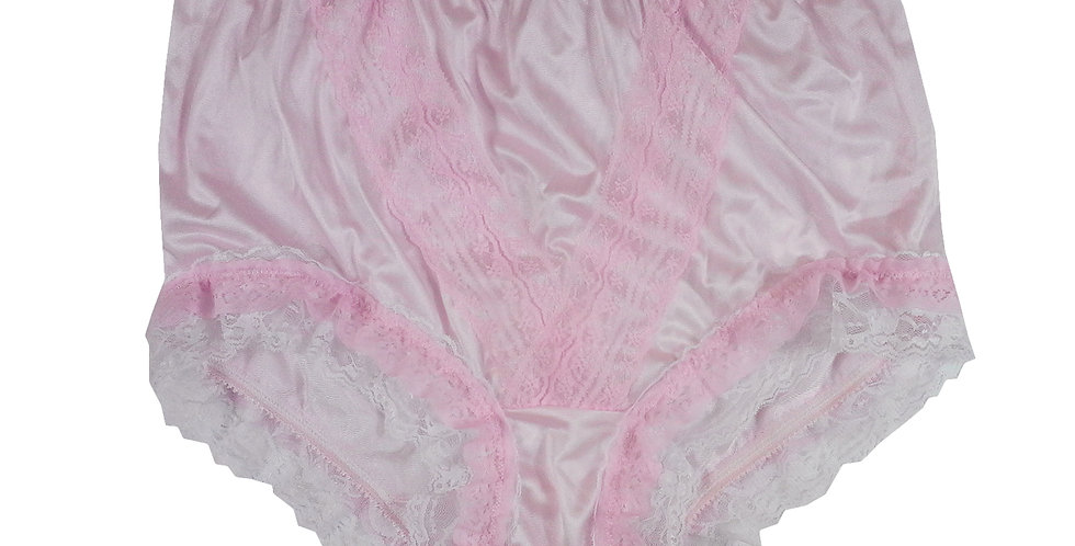 NLH05D02 Pink New Panties Granny Lace Briefs Nylon Handmade  Men