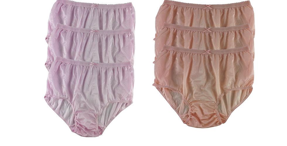 NYSE04 Lots 6 pcs New Panties Wholesale Briefs Silky Nylon Men Women