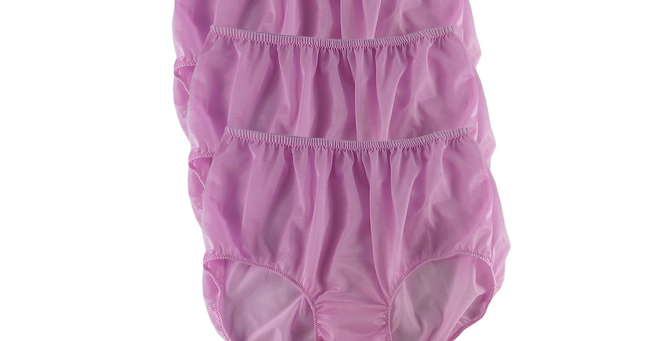 B4 FAIR PINK Lots 3 pcs Wholesale Women New Panties Granny Briefs Nylon