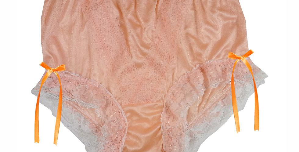 NLH21D05 Orange New Panties Granny Lace Briefs Nylon Handmade  Men