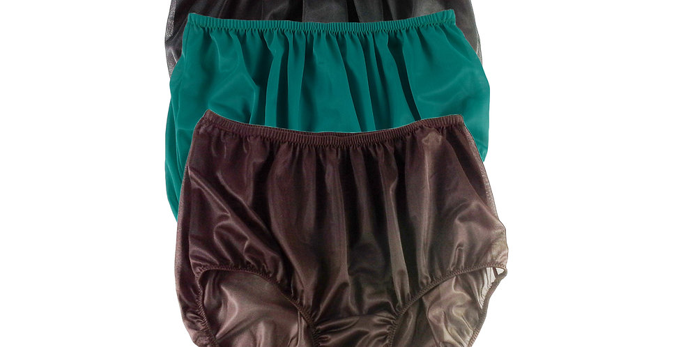 A29 Lots 3 pcs Wholesale Women New Panties Granny Briefs Nylon Knickers