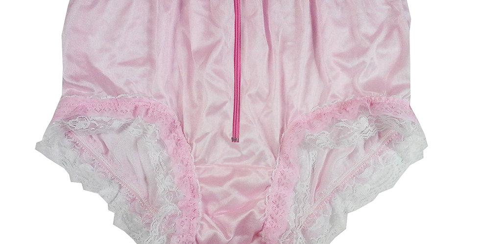 NYH23DP03 Pink Zipper Handmade New Panties Briefs Lace Sheer Nylon Men Women