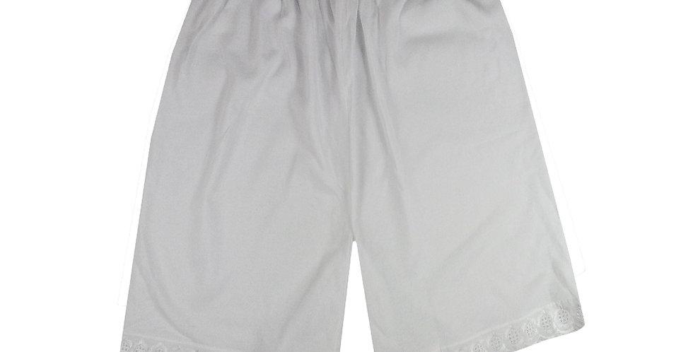 PCP02 white Cotton Pettipants Women Slips Lace Lingerie Underwear
