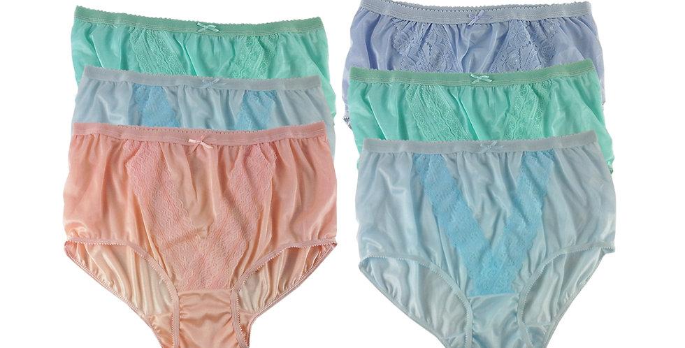 NLSG149 Lots 6 pcs Wholesale New Panties Granny Briefs Nylon Men Women